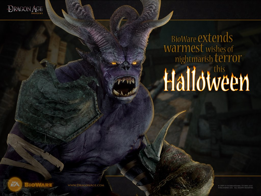Games Wallpaper: Dragon Age: Origins (Halloween)