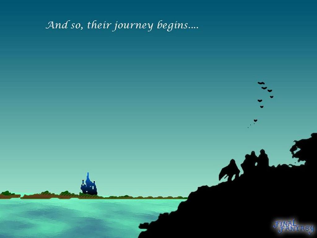Games Wallpaper: Final Fantasy 1 - The Journey Begins