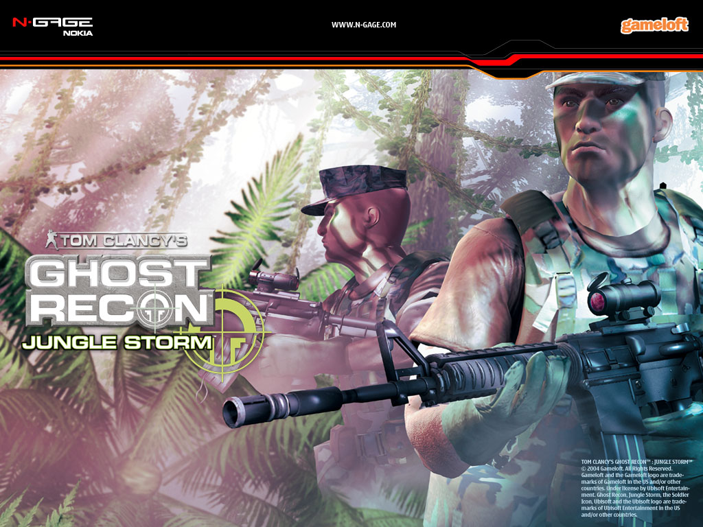 Games Wallpaper: Ghost Recon - Jungle Storm (N-Gage)