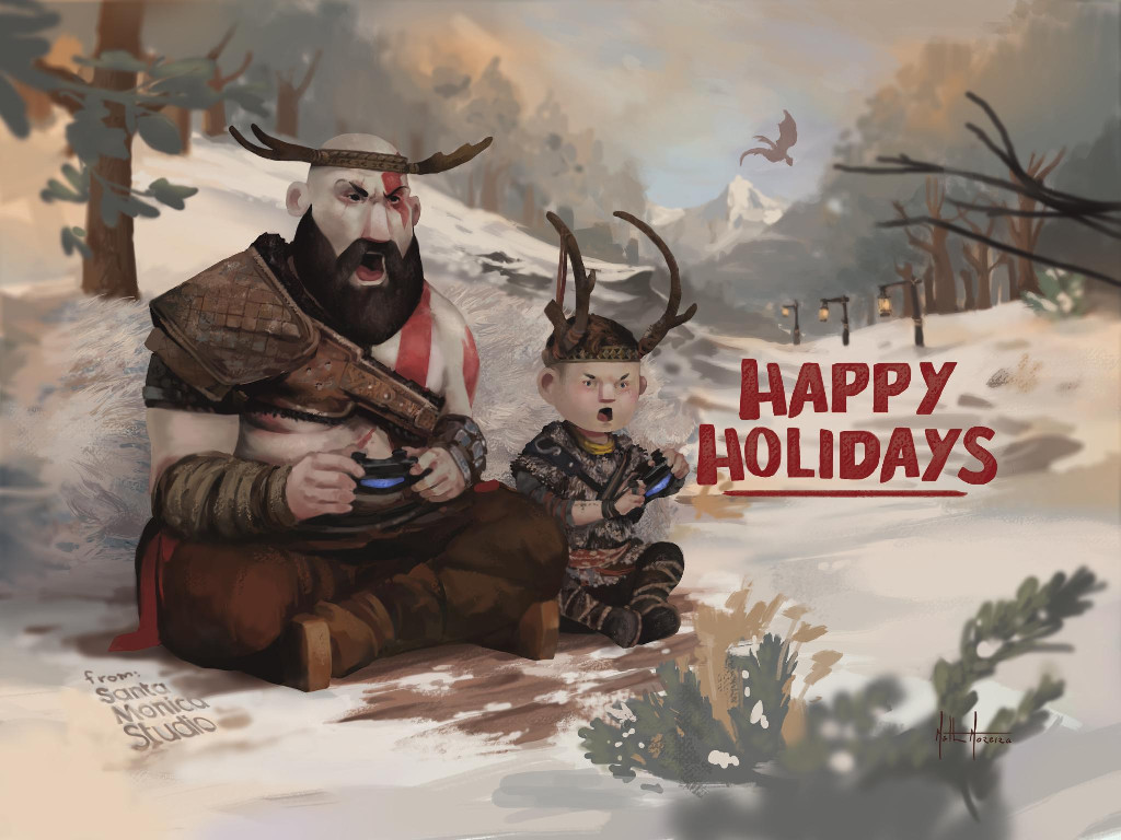 Games Wallpaper: God of War (2018) - Christmas