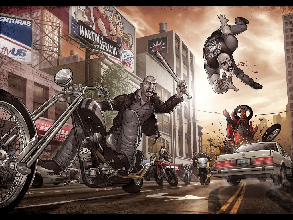 Games Wallpaper: GTA IV - The Lost and Damned (by Patrick Brown)