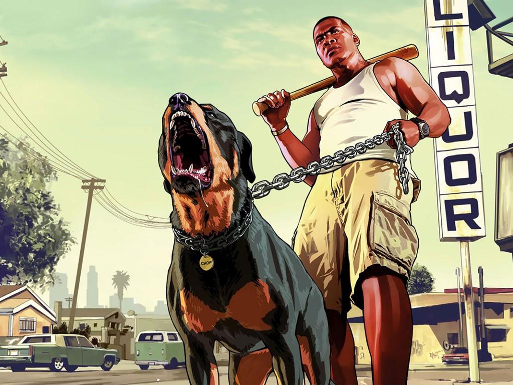 Games Wallpaper: GTA V - Franklin