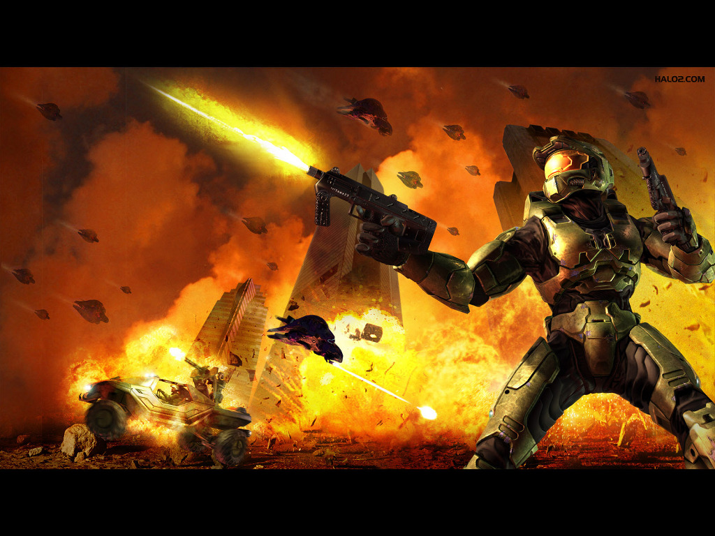 Games Wallpaper: Halo 2 - Battle