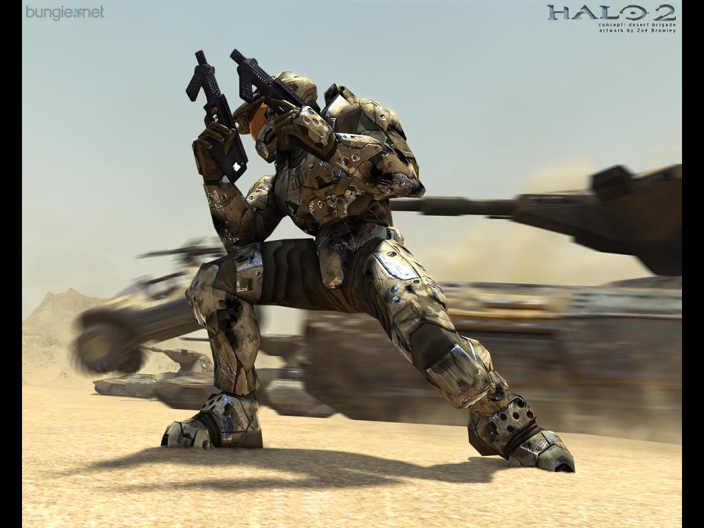 Games Wallpaper: Halo 2 - Desert Brigade