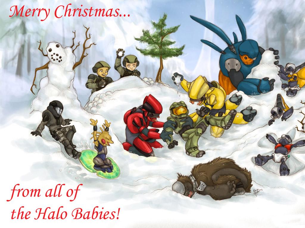 Games Wallpaper: Halo - Christmas