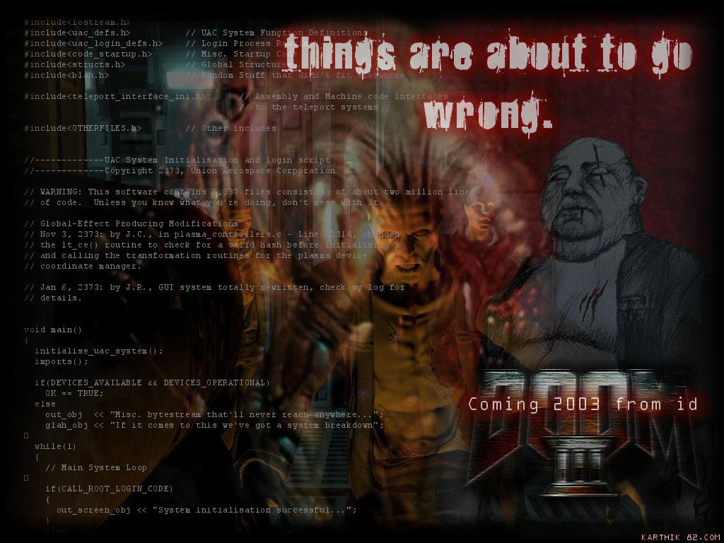 Games Wallpaper: Doom 3 with Source Code