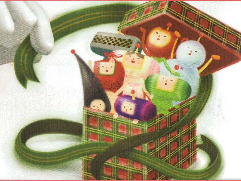 Games Wallpaper: Katamari Damacy - Christmas Postcard