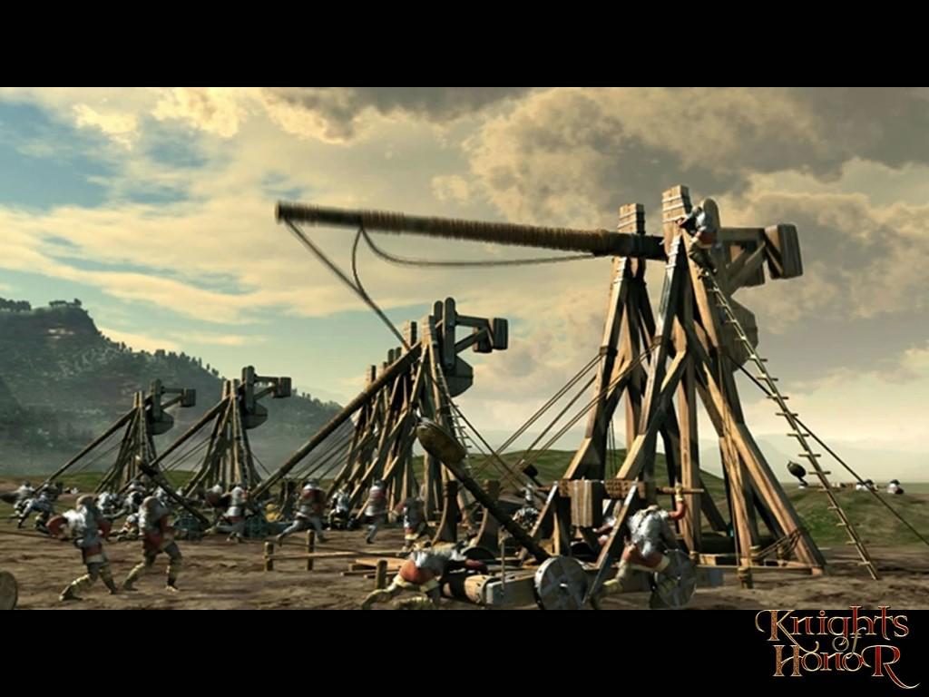 Games Wallpaper: Knights of Honor - Trebuchets