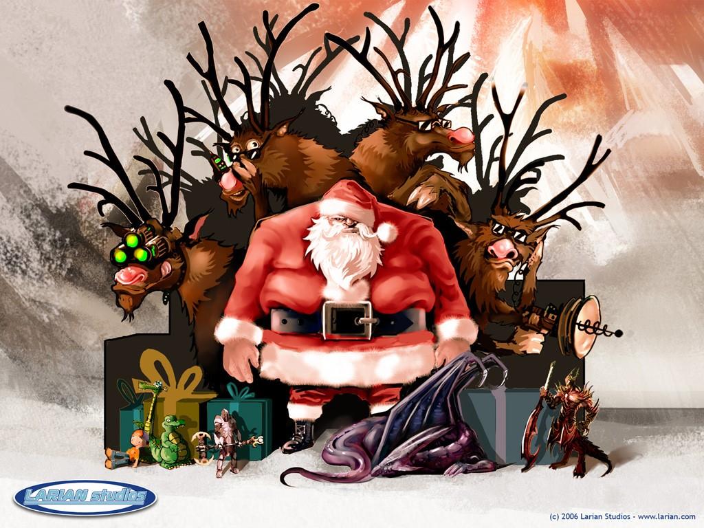 Games Wallpaper: Larian Studios - Bad Mean Santa