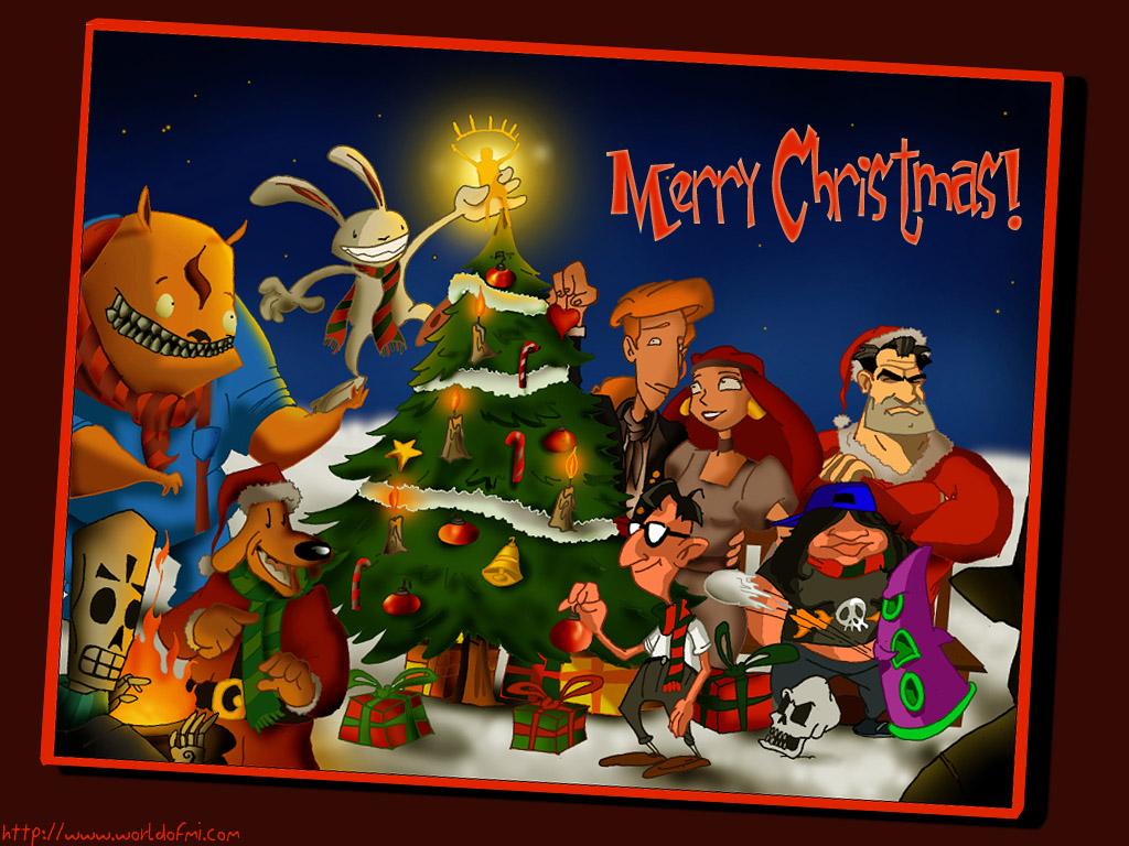 Games Wallpaper: Lucas Arts - Merry Christmas