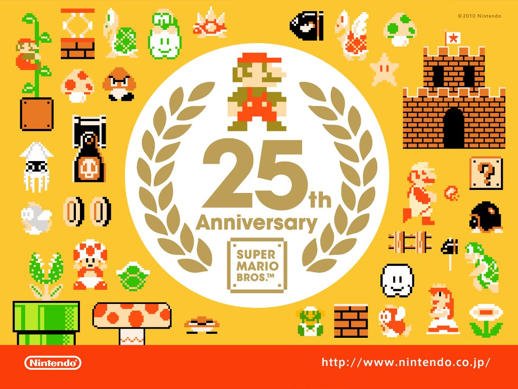 Games Wallpaper: Mario - 25 Years