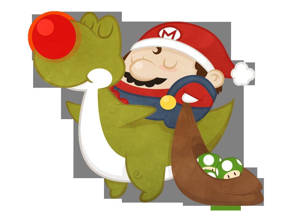 Games Wallpaper: Mario - Christmas