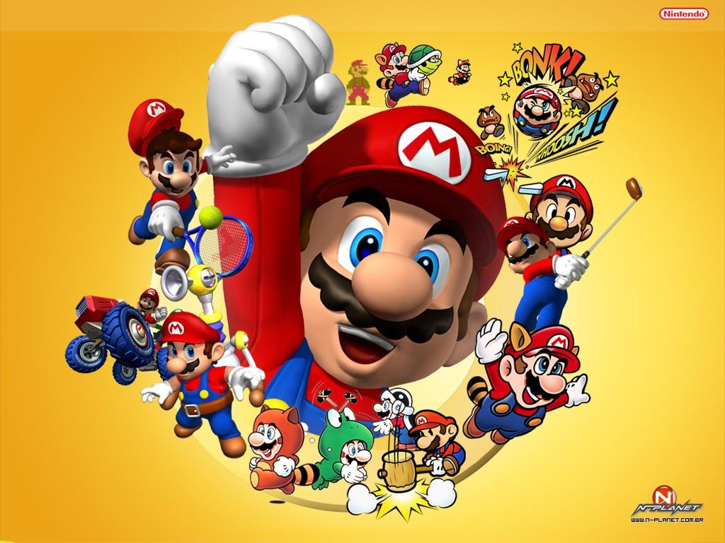 Papel de Parede Gratuito de Jogos : Mario Evolution