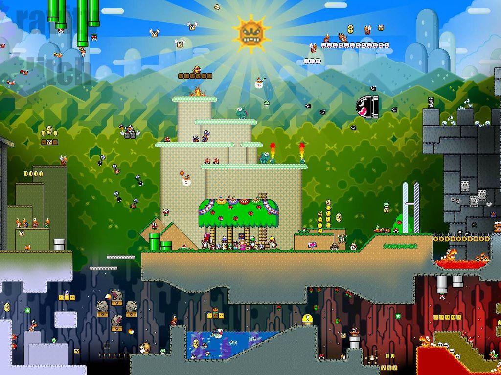 Games Wallpaper: Mario - Landscape