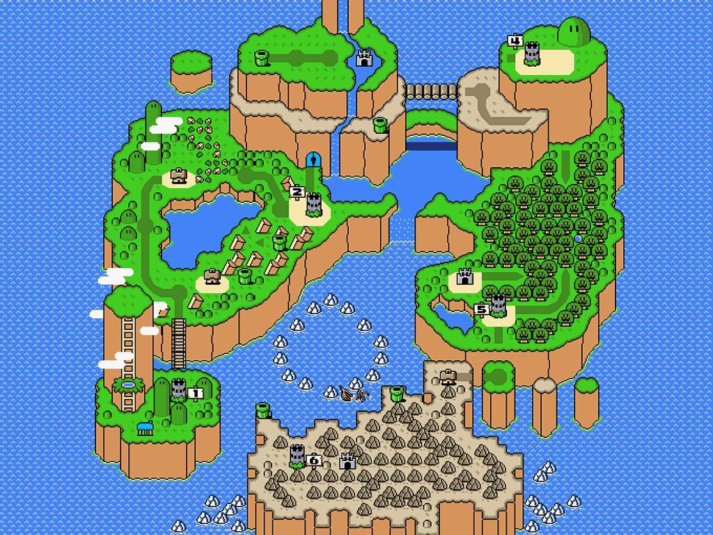 Games Wallpaper: Mario - World Map