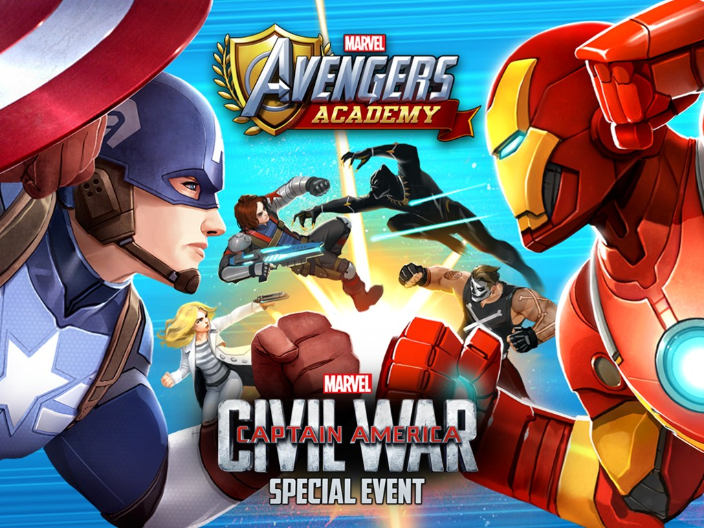 Games Wallpaper: Marvel Avengers Academy - Civil War