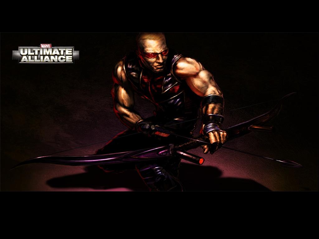 Games Wallpaper: Marvel Ultimate Alliance - Hawkeye