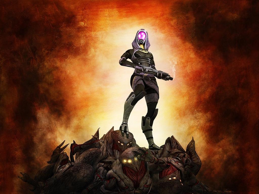 Games Wallpaper: Mass Effect 2 - Tali