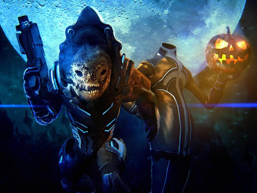 Games Wallpaper: Mass Effect 3 - Halloween