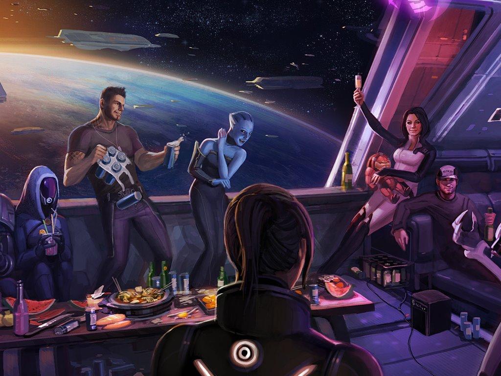Games Wallpaper: Mass Effect 3 - Happy Ending