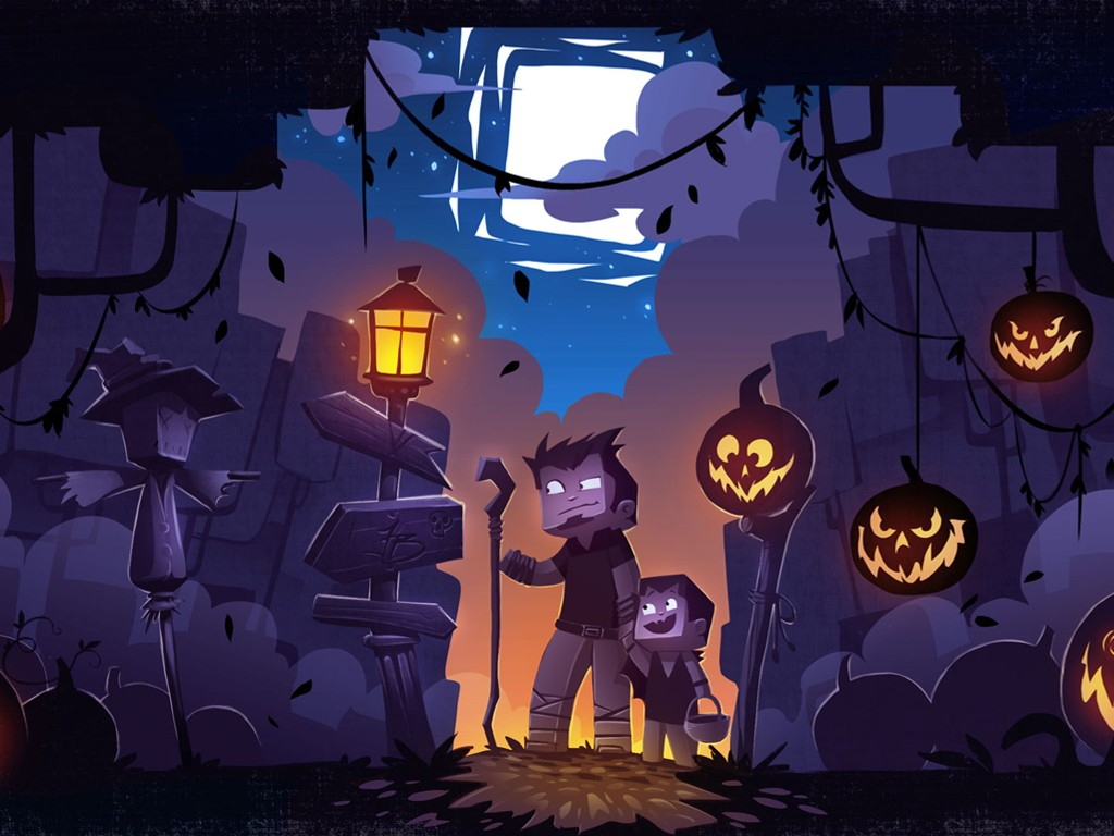 Games Wallpaper: Minecraft - Halloween