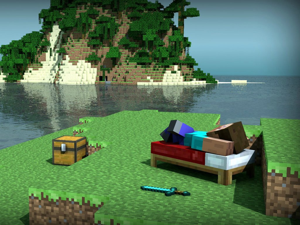 Games Wallpaper: Minecraft - Relax
