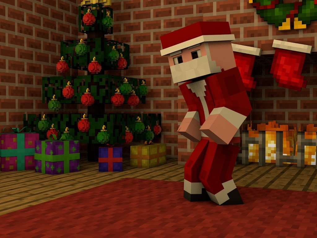 Games Wallpaper: Minecraft - Christmas