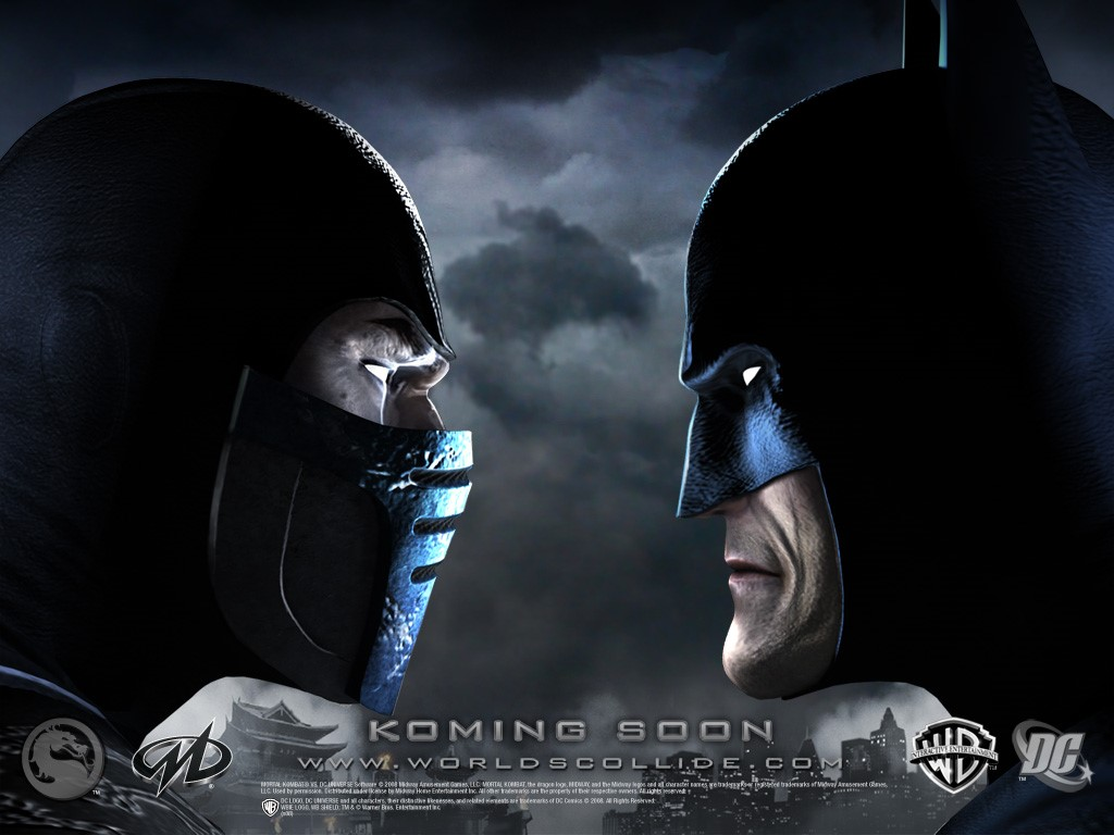 Games Wallpaper: Mortal Kombat vs DC - Sub-Zero vs Batman