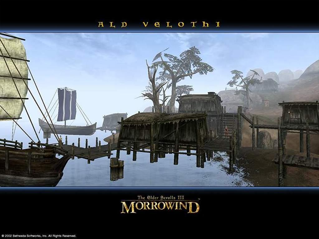 Games Wallpaper: Morrowind - Ald Velothi