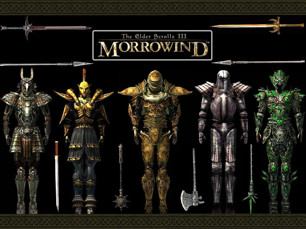 Games Wallpaper: Morrowind - Armors and Weapons