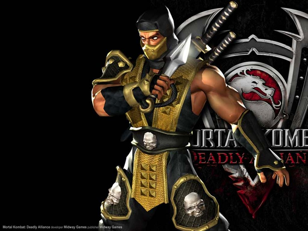 Games Wallpaper: Mortal Kombat Deadly Alliance - Scorpion