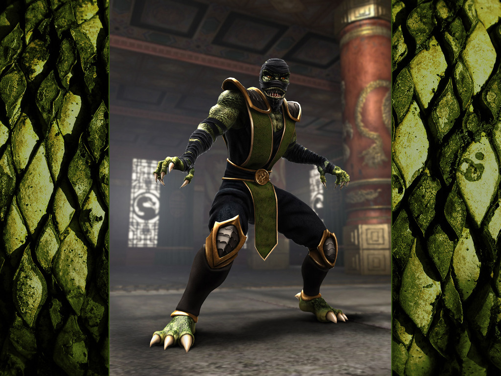 Games Wallpaper: Mortal Kombat Shaolin Monks - Reptile