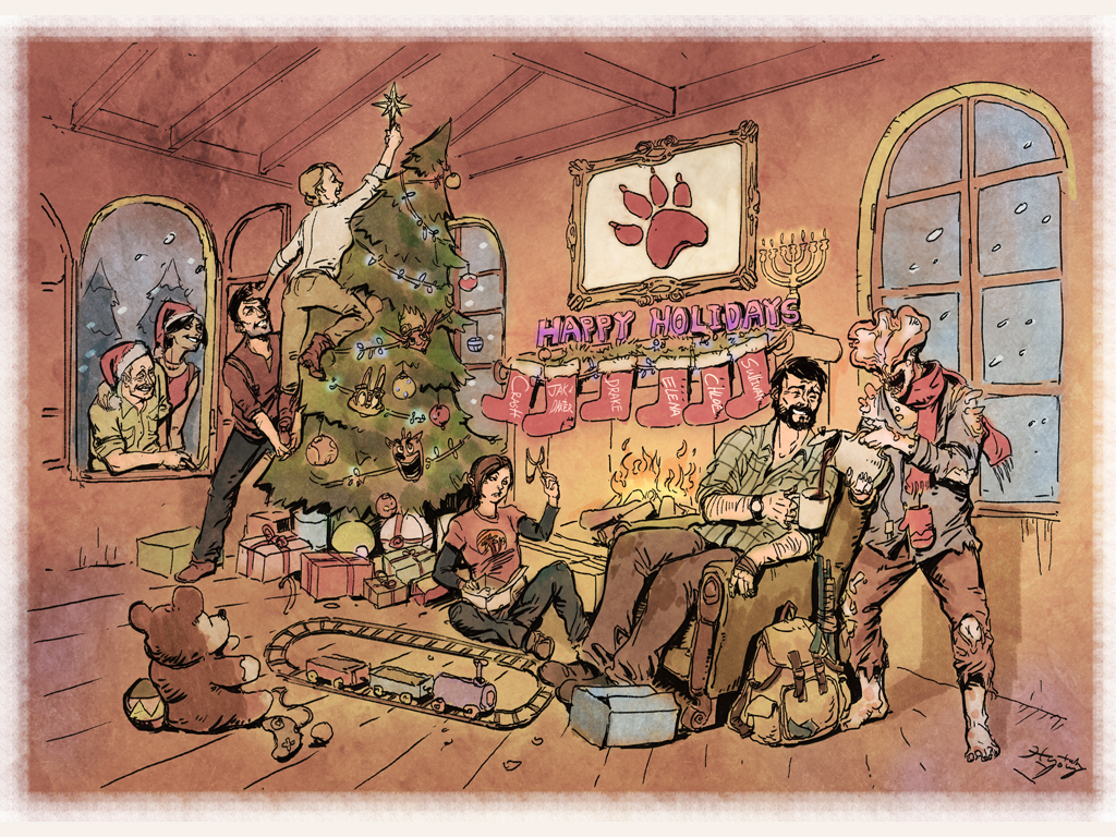 Games Wallpaper: Naughty Dog - Christmas Card