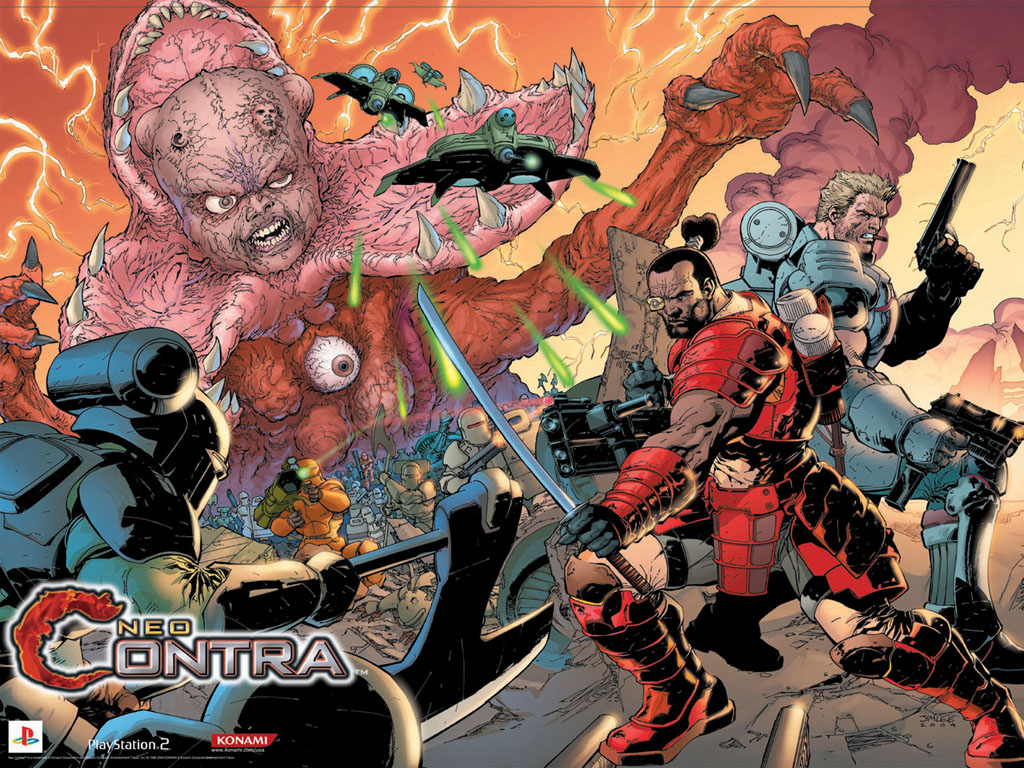 Games Wallpaper: Neo Contra (by Jim Lee)
