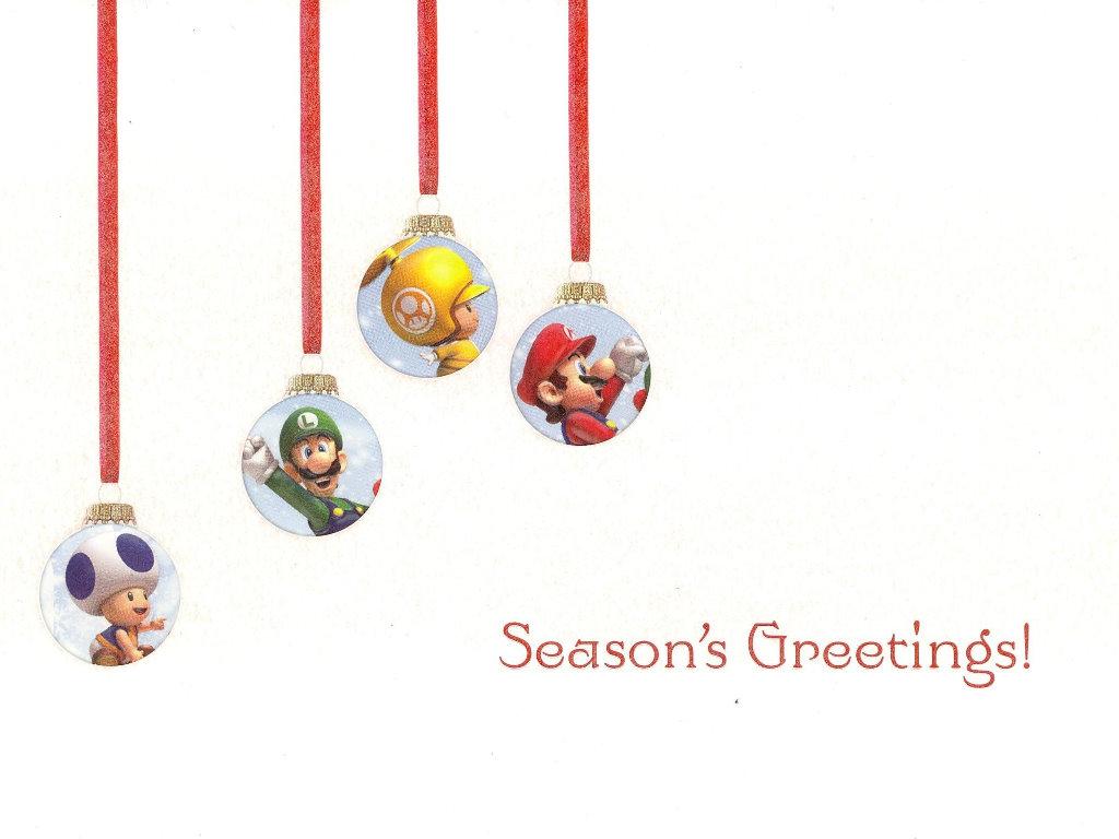 Games Wallpaper: Nintendo - Christmas Card