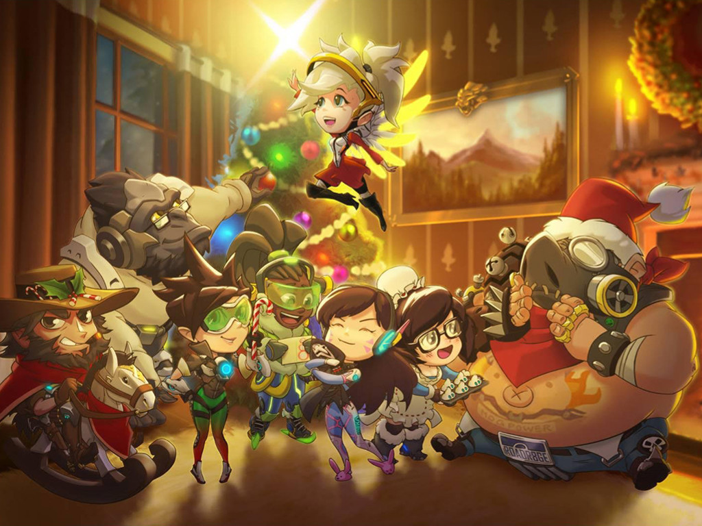 Games Wallpaper: Overwatch - Christmas