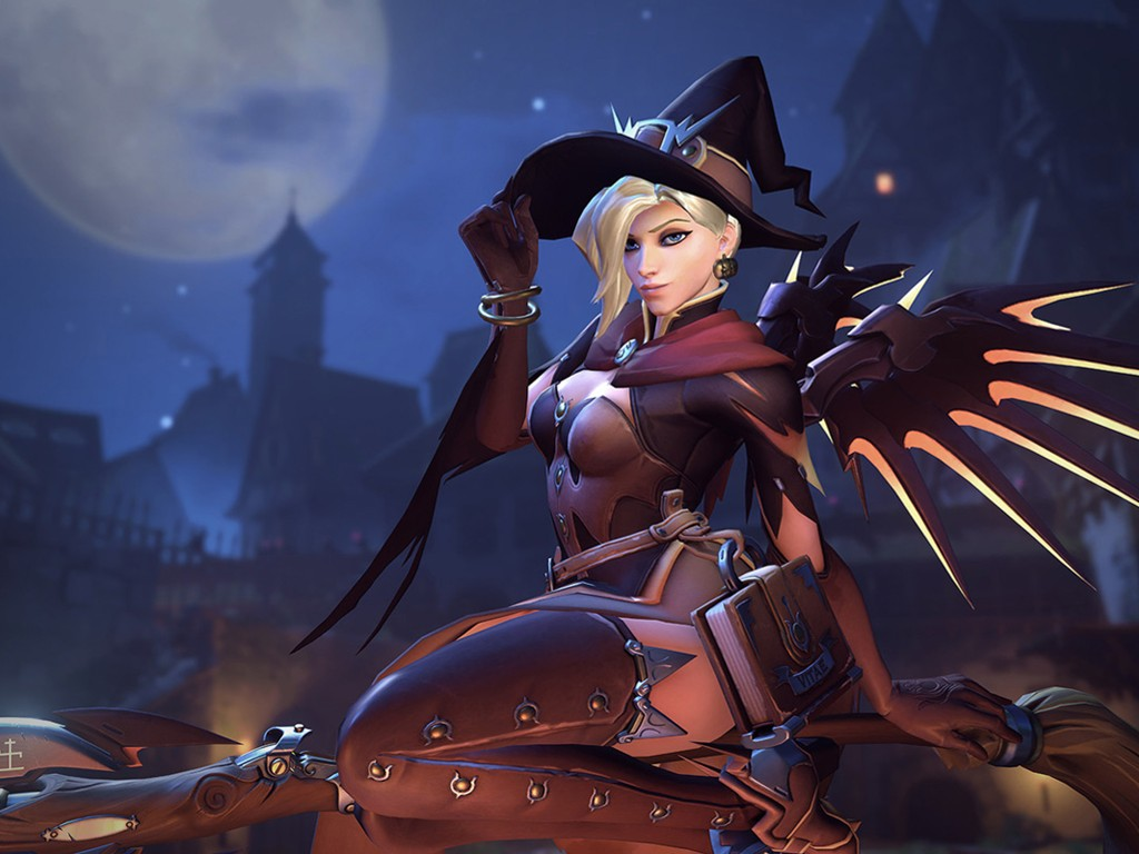 Games Wallpaper: Overwatch - Witch Mercy