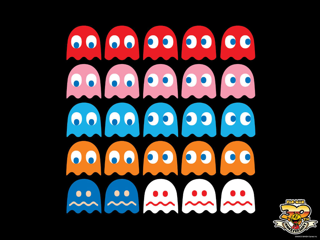Games Wallpaper: Pac-Man - Ghosts