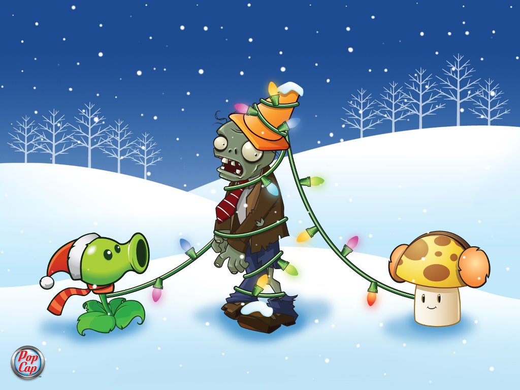 Games Wallpaper: Plants vs Zombies - Christmas