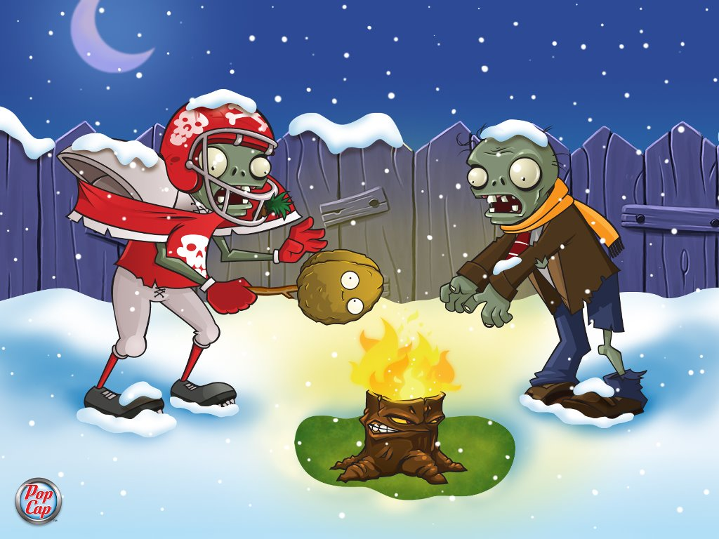 Games Wallpaper: Plants vs. Zombies - Christmas