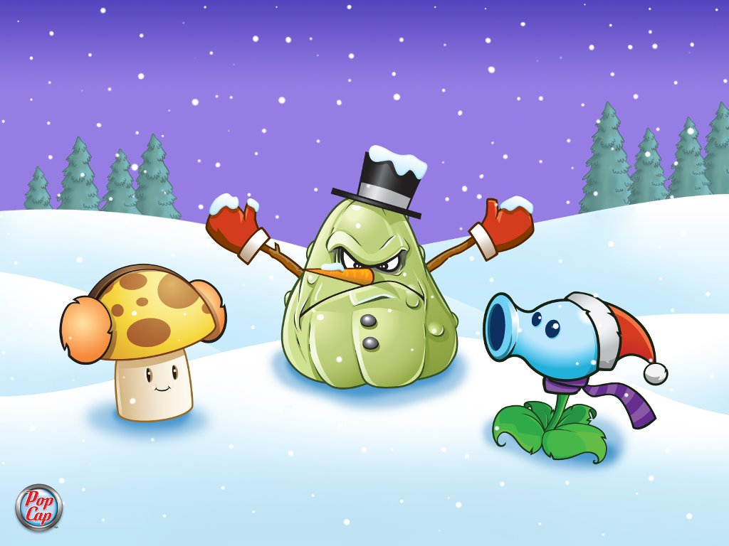 Games Wallpaper: Plants vs Zombies - Christmas