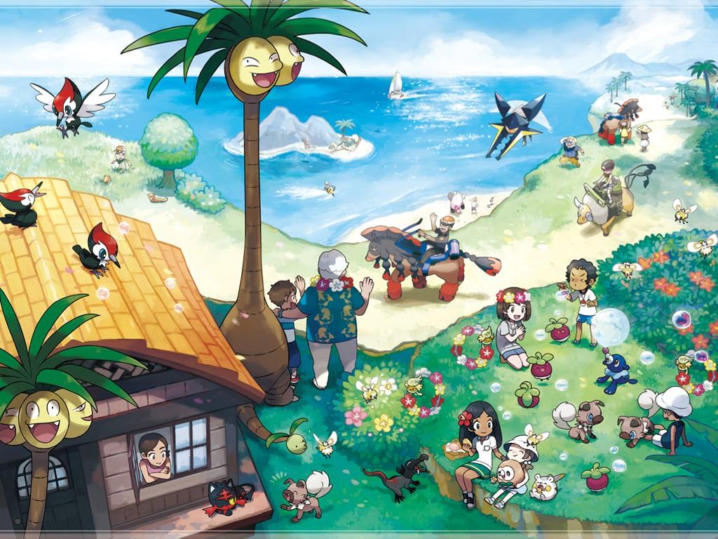 Games Wallpaper: Pokemon Sun and Moon - Alola