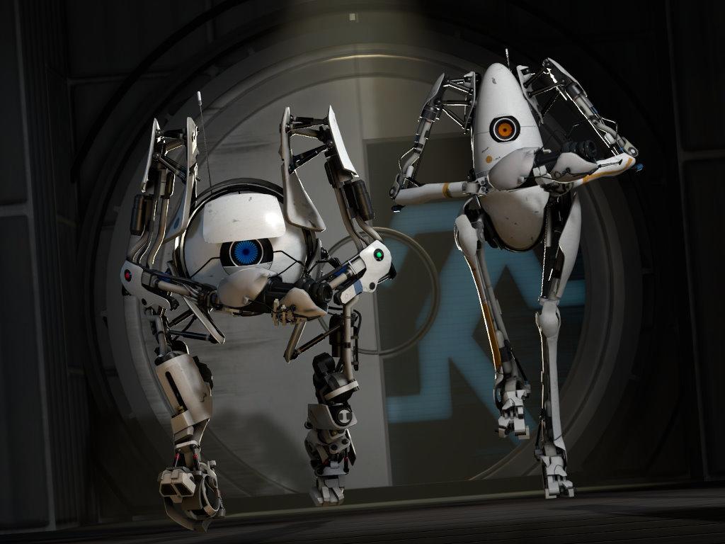 Games Wallpaper: Portal 2 - Bots