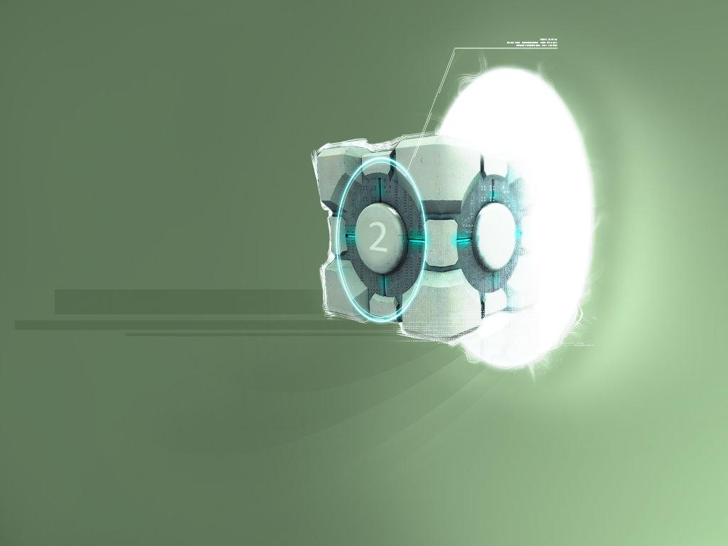 Games Wallpaper: Portal 2 - Cube