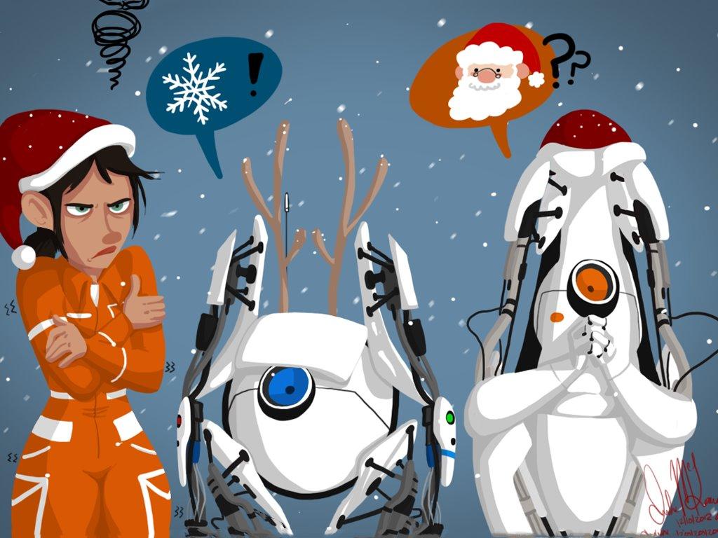 Games Wallpaper: Portal 2 - Xmas