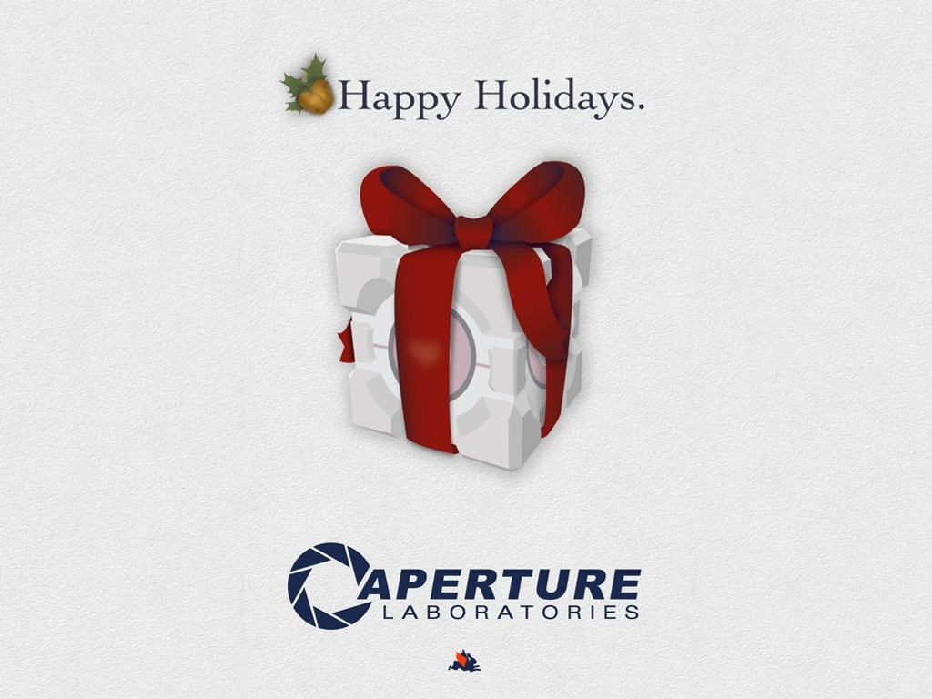 Games Wallpaper: Portal - Aperture Christmas