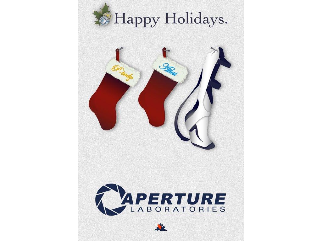 Games Wallpaper: Portal - Christmas