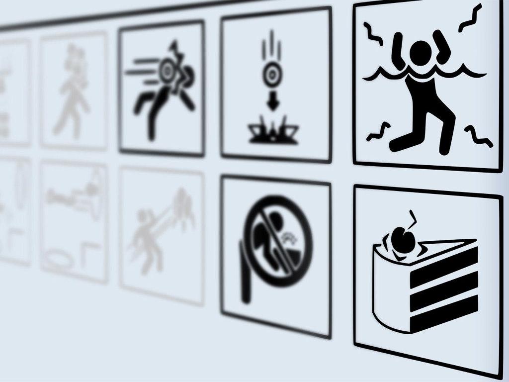 Games Wallpaper: Portal - Signs
