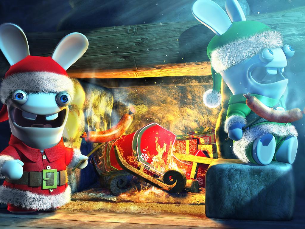 Games Wallpaper: Rabbids - Christmas