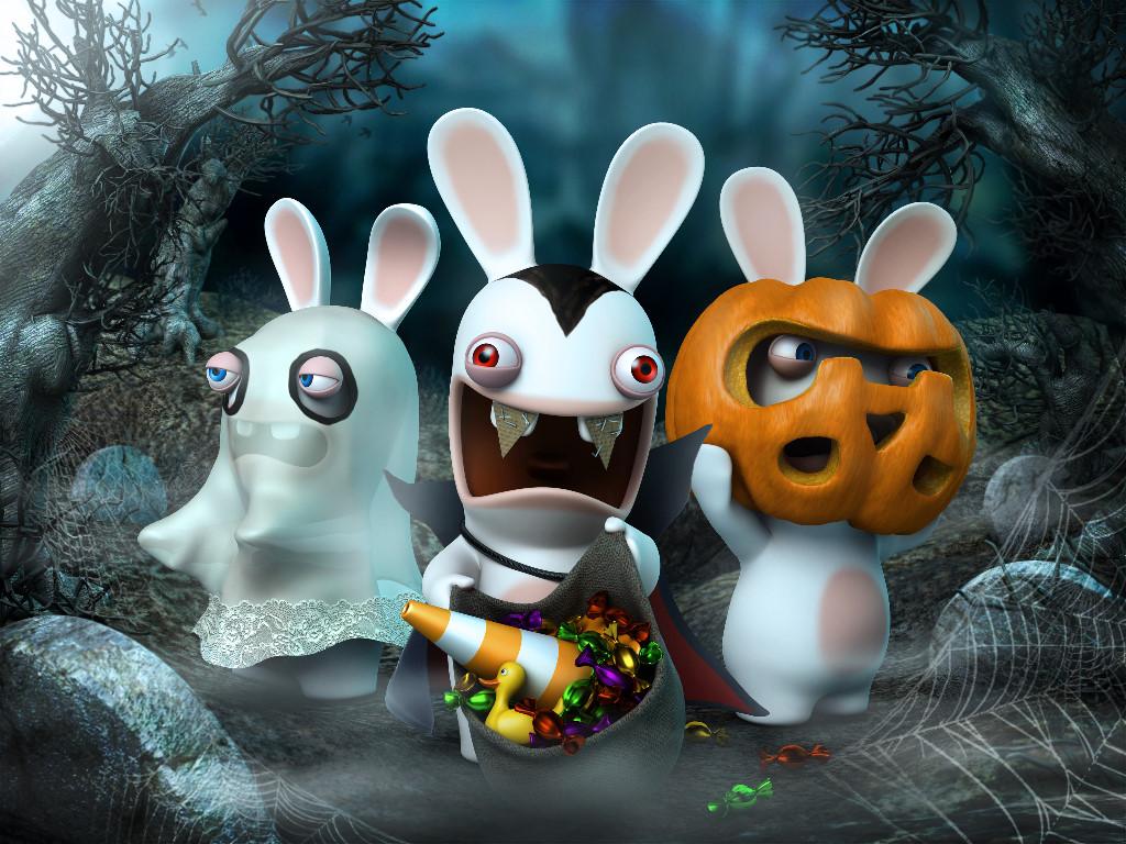 Games Wallpaper: Rabbids - Halloween